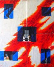 149 Ombres Torrides - Les volets s'ouvrent - Huile sur Toile - 76/92